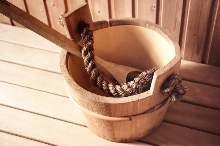 sauna basics of ladle and bucket