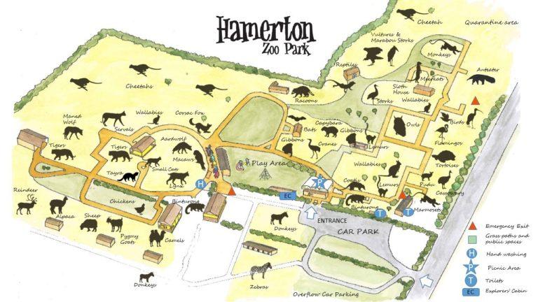 Hamerton Zoo Park map